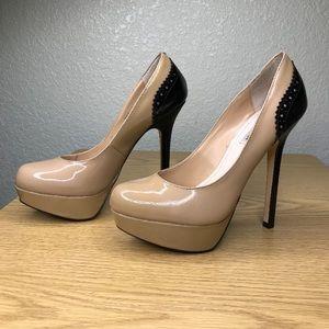 Steve Madden Nude Black Heel Size 8 Read BELOW